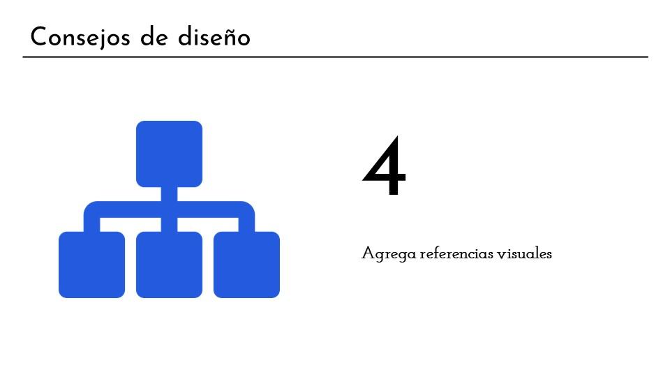 Consejo de diseño 4: agregar referencias visuales