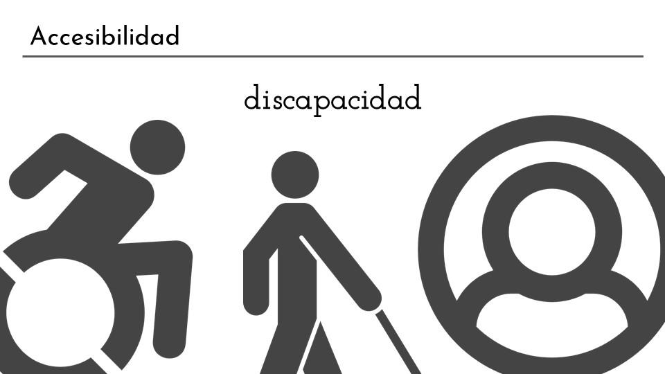 Diapositiva sobre posibles tipos de discapacidad