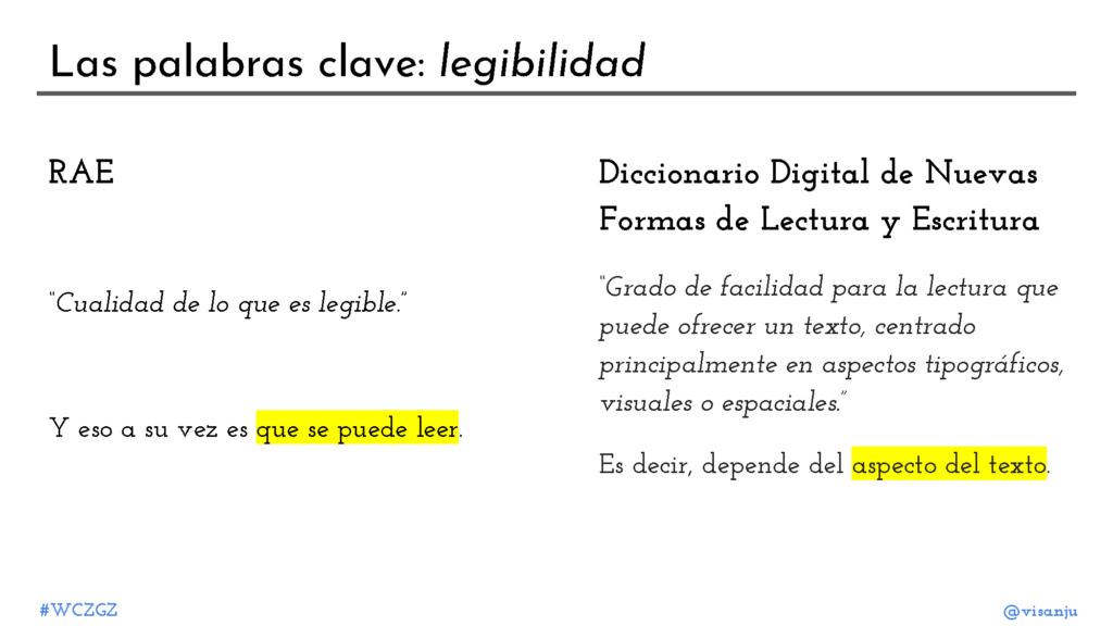 Diapositiva 7: Las palabras clave: legibilidad