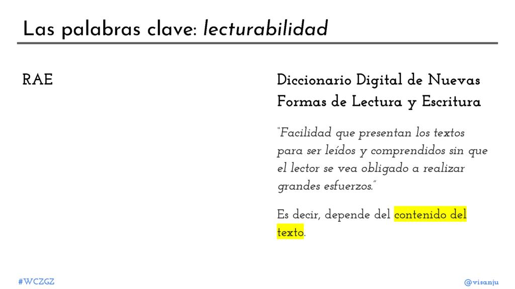 Diapositiva 8: Las palabras clave: lecturabilidad