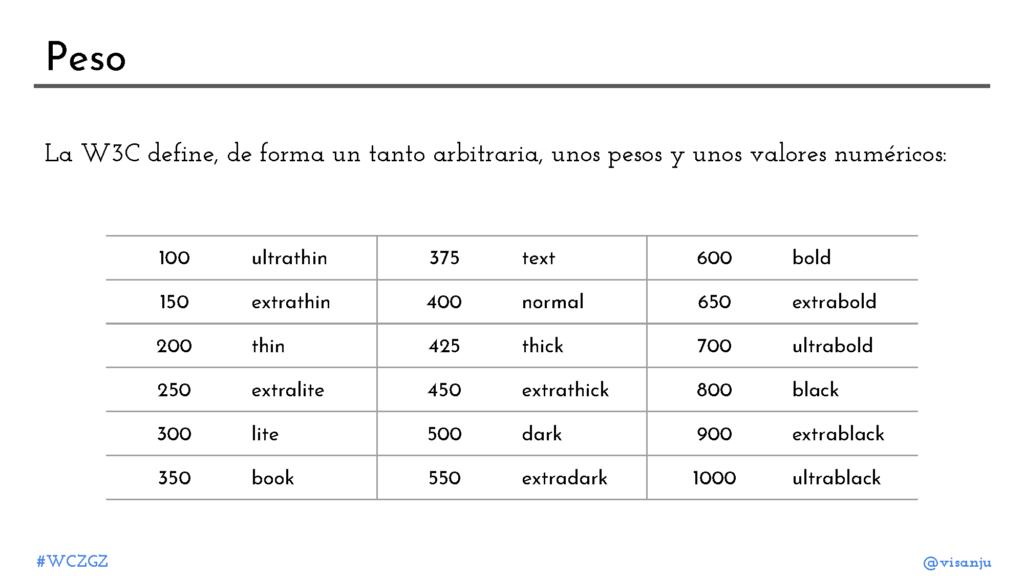 Diapositiva 25: Peso