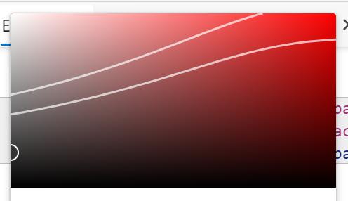 Panel de las variaciones del color con los intervalos de colores según respeten o no cada norma WCAG 2.1 de contraste de color
